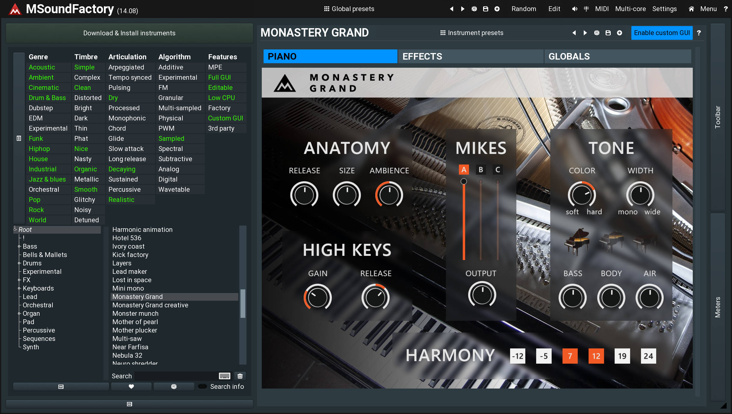 Free-for-life updates including new instruments