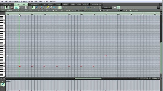 4 - Creating a drum track in Samplitude