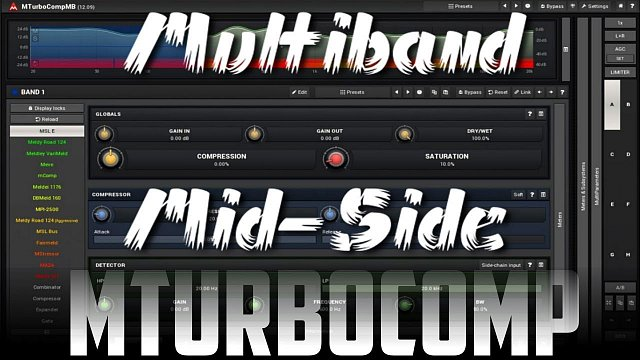 MTurboComp: Mid-Side and multiband using MTurboComp
