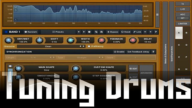 MFreqShifterMB: Tuning drums with MFreqShifterMB
