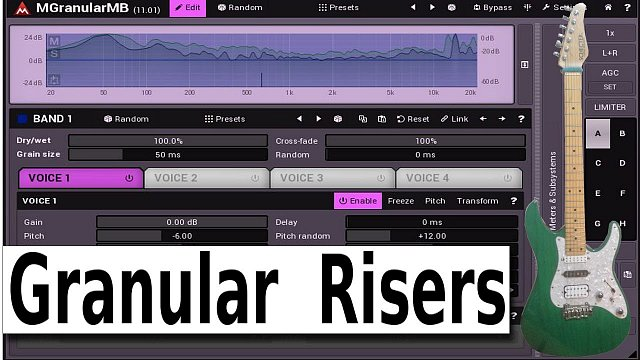 MGranularMB: Creating risers using granular synthesis