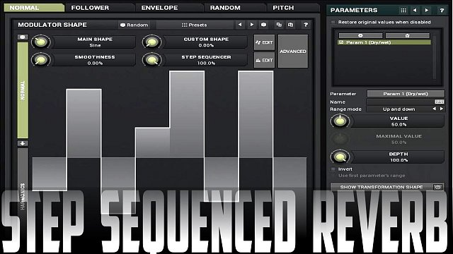 MTurboReverb: Step sequenced Reverb/FX
