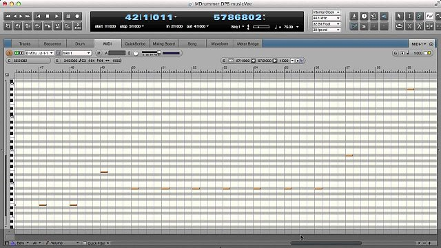 4 - Creating a drum track in Digital Performer