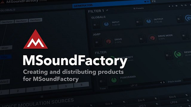 Creating and distributing products for MSoundFactory