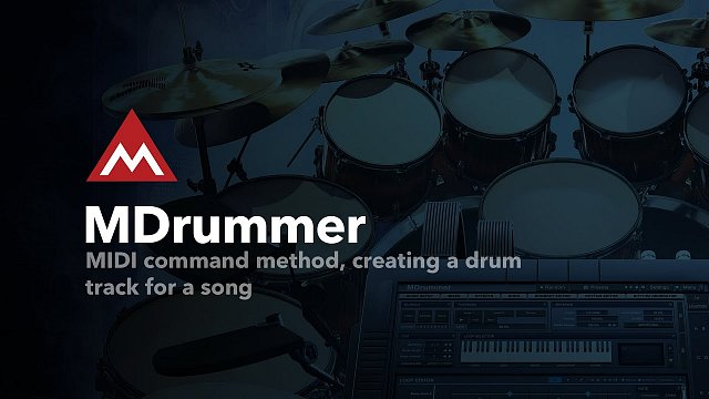 #2 - MIDI command method, creating a drum track for a song