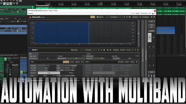 Multiple Reverbs and Delay Throws using Melda Multiband
