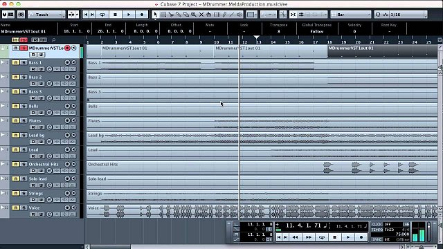 4 - Creating a drum track in Steinberg Cubase