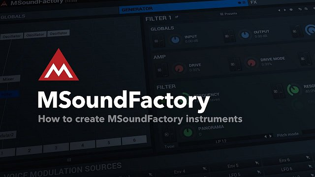 How to create MSoundFactory instruments